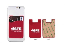 Adhesive cell phone wallets